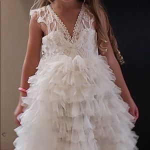 Other - Ruffle tulle white baptism church flower girl dres
